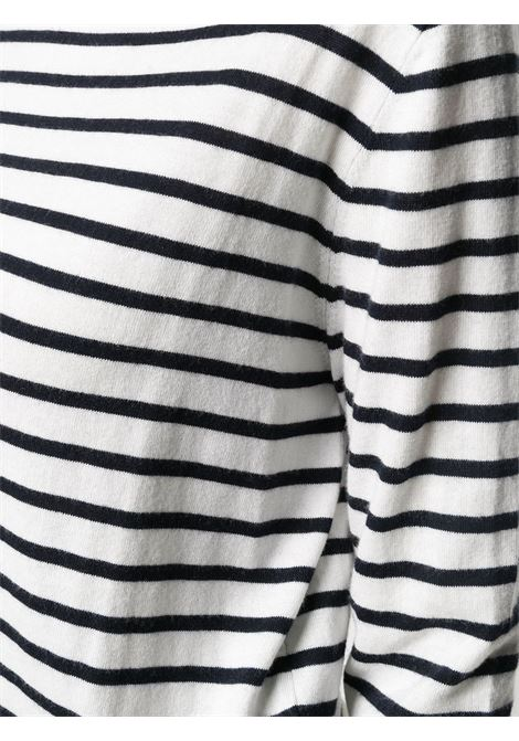 Maglia bianco/nero ALLUDE | MAGLIE | 21262012909