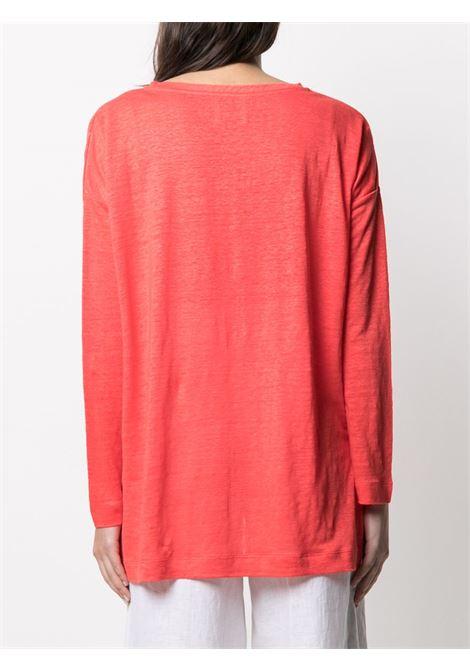 Maglione rosso corallo ALLUDE | MAGLIONE | 2128200263