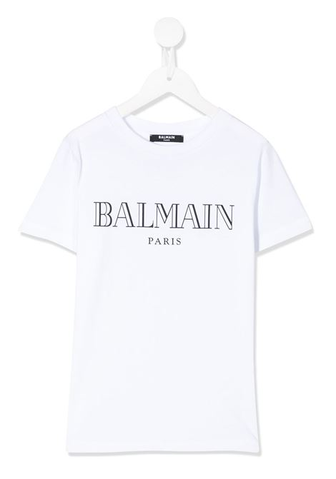 T-shirt bianca BALMAIN KIDS | T-SHIRT | 6M8721MX030100