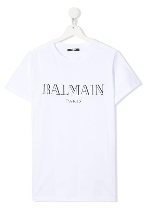 White t-shirt BALMAIN KIDS | T-SHIRT | 6M8721TMX030100