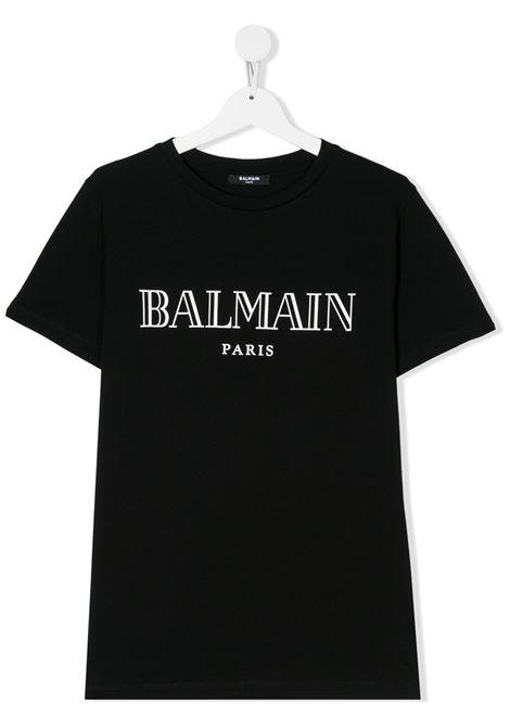 Black t-shirt BALMAIN KIDS | T-SHIRT | 6M8721TMX030930