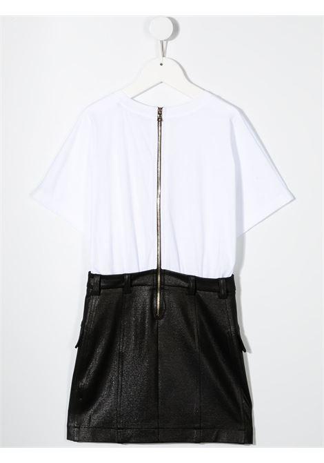 White/black dress BALMAIN KIDS | DRESS | 6O1171OB690100NE