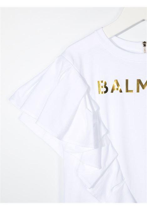 Abito bianco BALMAIN KIDS | ABITI | 6O1211OB690100