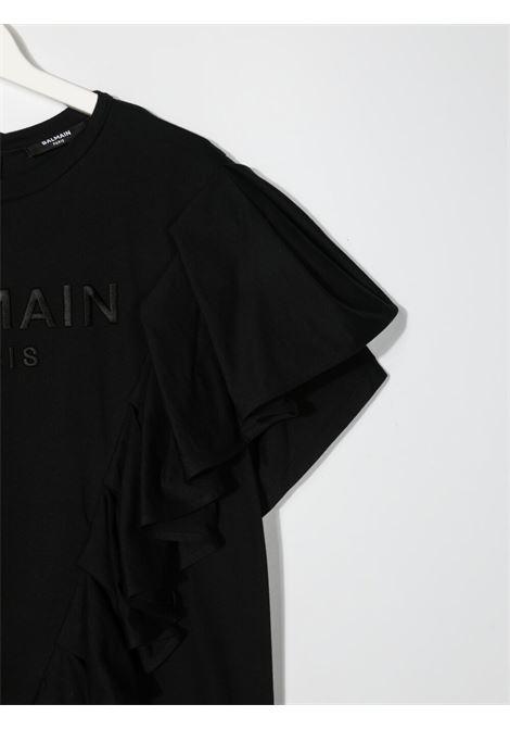 Black dress BALMAIN KIDS | DRESS | 6O1261TOD530930