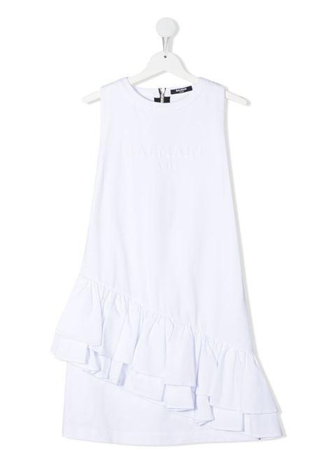 White dress BALMAIN KIDS | DRESS | 6O1272TOD530100