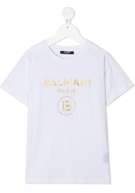T-shirt bianca BALMAIN KIDS | T-SHIRT | 6O8101OX390100OR