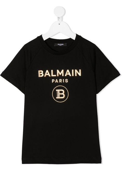T-shirt nera BALMAIN KIDS | T-SHIRT | 6O8101OX390930OR