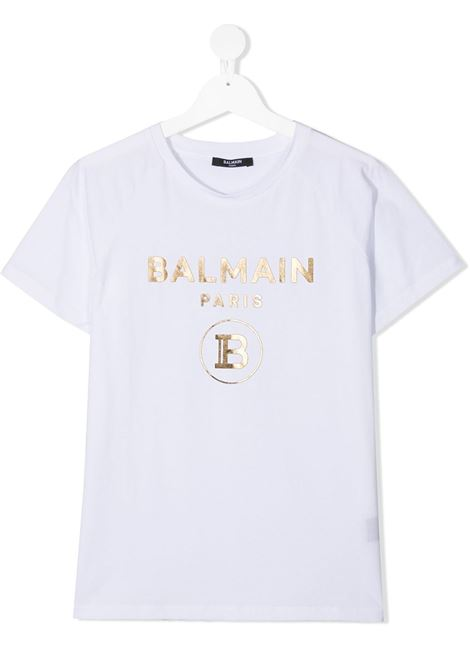 T-shirt bianca BALMAIN KIDS | T-SHIRT | 6O8101TOX390100OR