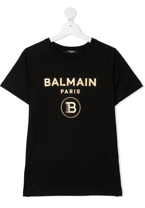 Black t-shirt BALMAIN KIDS | T-SHIRT | 6O8101TOX390930OR