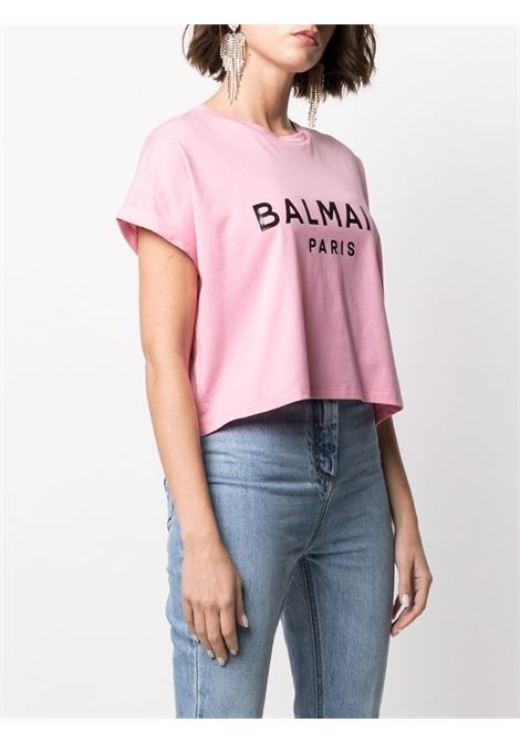 T-shirt rosa BALMAIN | T-SHIRT | VF0EE005B035OBK