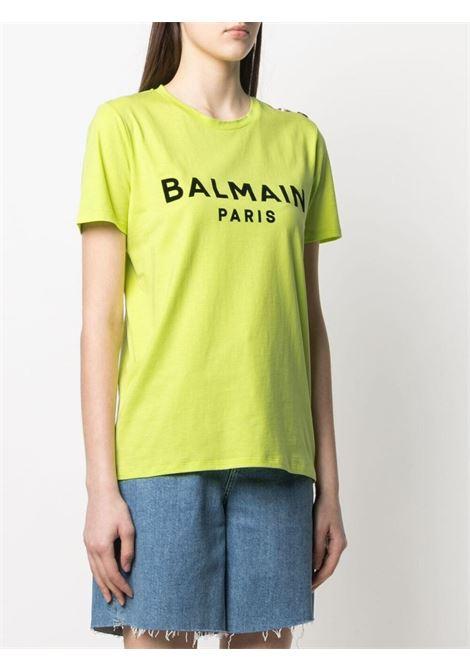 Green T-shirt BALMAIN |  | VF0EF005B044IAU