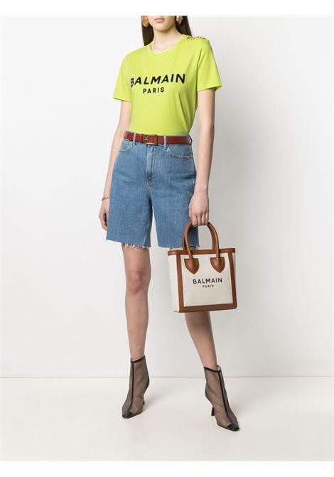 T-shirt verde BALMAIN | T-SHIRT | VF0EF005B044IAU