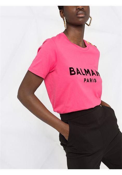 Pink T-shirt BALMAIN |  | VF0EF005B044OBX