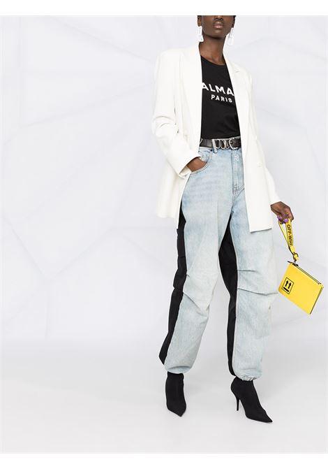 T-shirt nera BALMAIN | T-SHIRT | VF11350B001EAB