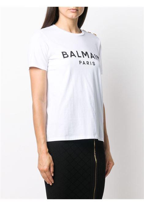 T-shirt bianca BALMAIN | T-SHIRT | VF11350B001GAB