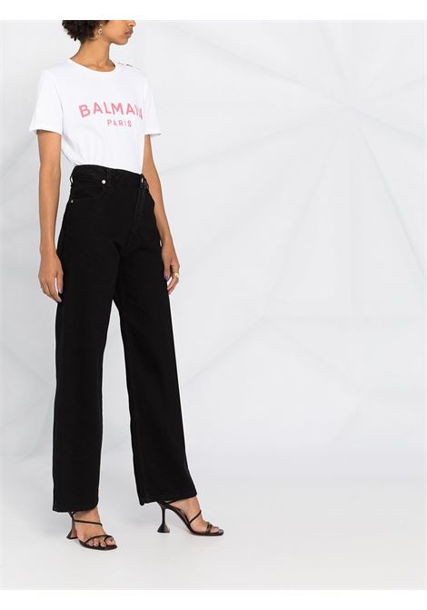 T-shirt bianca BALMAIN | T-SHIRT | VF11350B001GBY