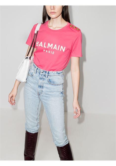Pink t-shirt BALMAIN |  | VF11350B001OAJ