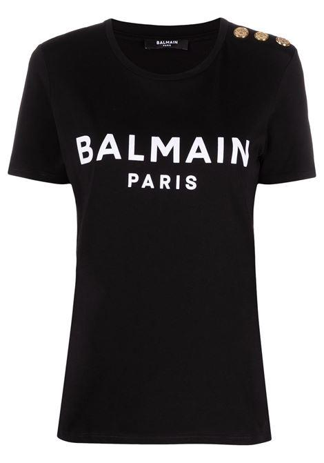Black t-shirt BALMAIN |  | VF11350B012EAB