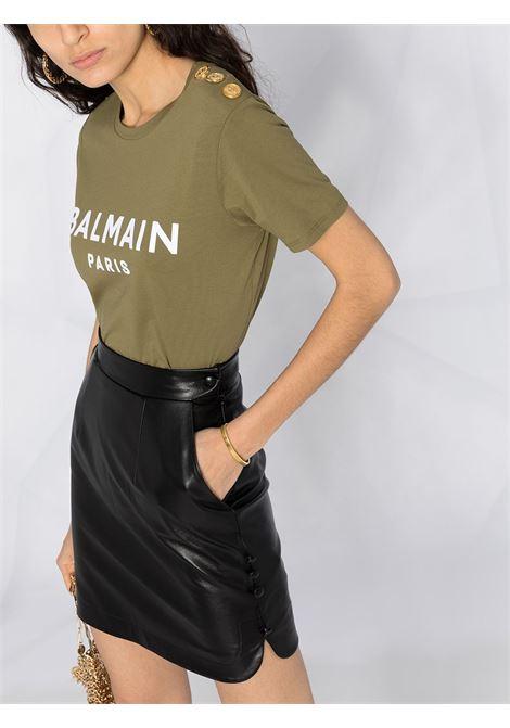 Khaki t-shirt BALMAIN |  | VF11350B012UAE