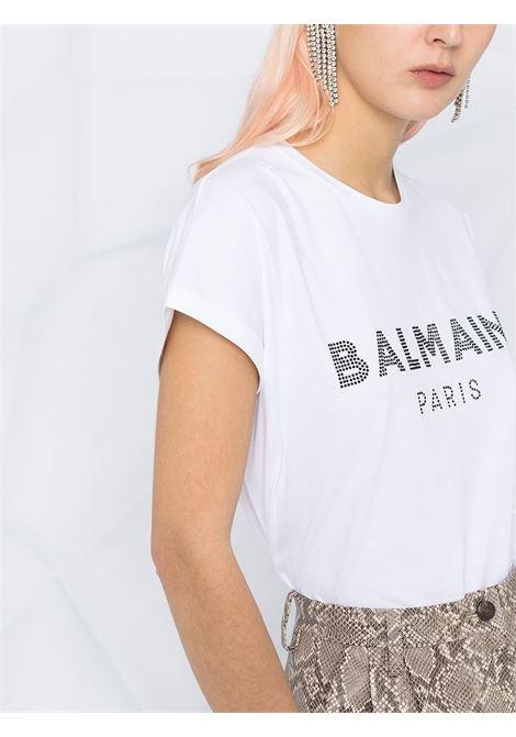 T-shirt bianca BALMAIN | T-SHIRT | VF11351B011GAB