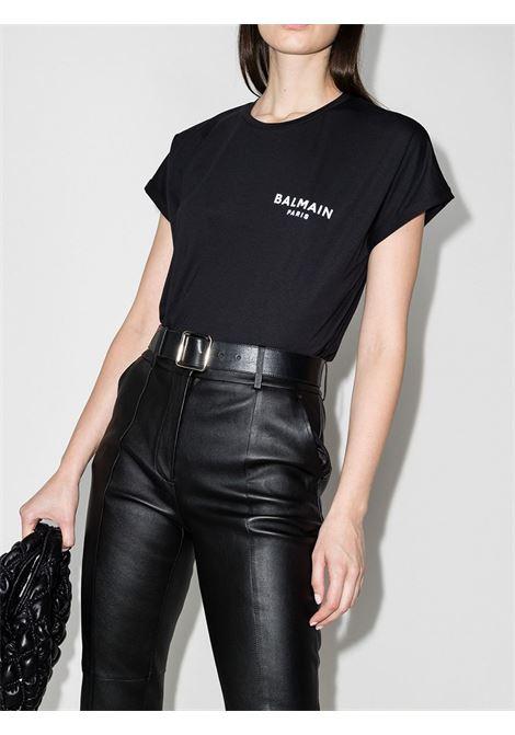 Black t-shirt BALMAIN |  | VF11351B013EAB