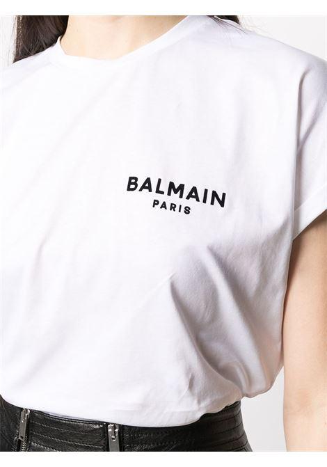 T-shirt bianca BALMAIN | T-SHIRT | VF11351B013GAB