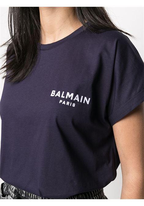 T-shirt blu BALMAIN | T-SHIRT | VF11351B013SAJ