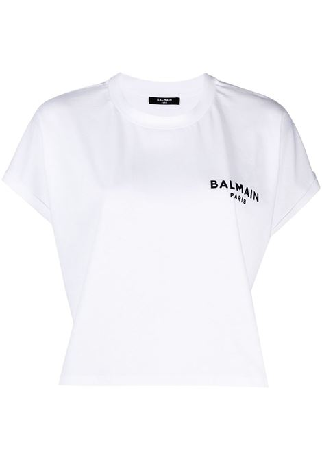 T-shirt bianca BALMAIN | T-SHIRT | VF11370B013GAB