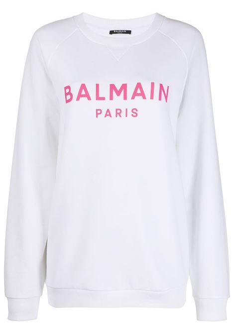 White sweatshirt BALMAIN |  | VF13691B002GBY