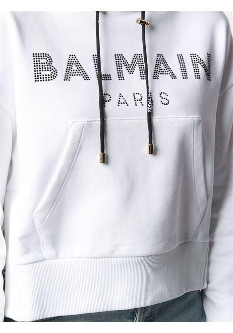 Felpa bianca BALMAIN | FELPE | VF13792B010GAB