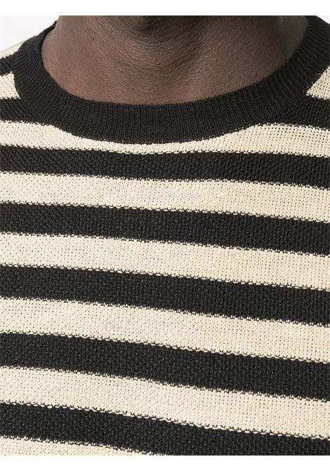 Maglione nero/beige BARENA | MAGLIONE | KNU30303124590