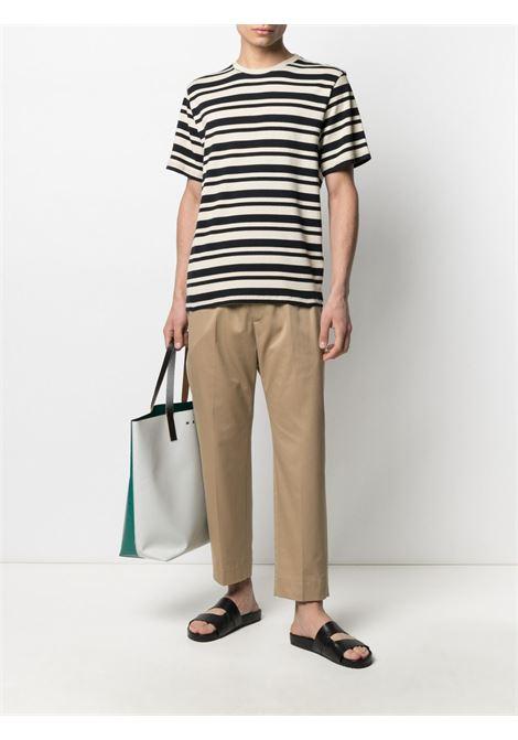 T-shirt bianco/nero BARENA | T-SHIRT | TSU30902577500
