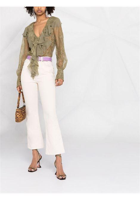 Green blouse BLUMARINE | JERSEYS | 25135241
