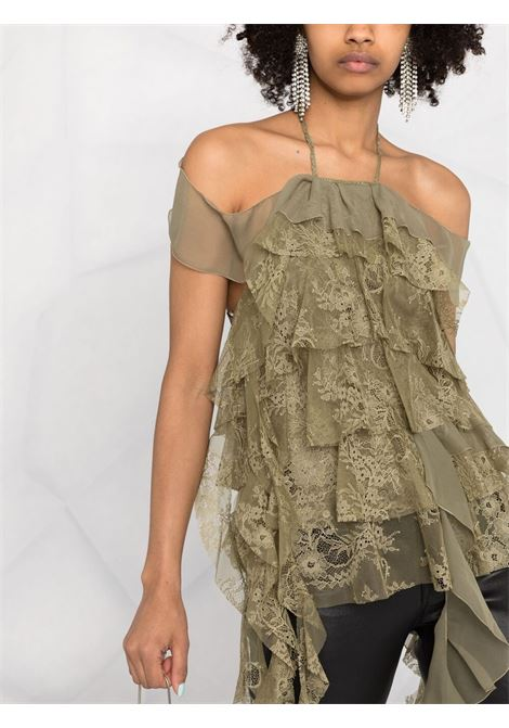 Green blouse BLUMARINE | TOP | 25504241