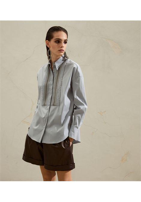 Light blue shirt BRUNELLO CUCINELLI | SHIRTS | M0091MF806C2468