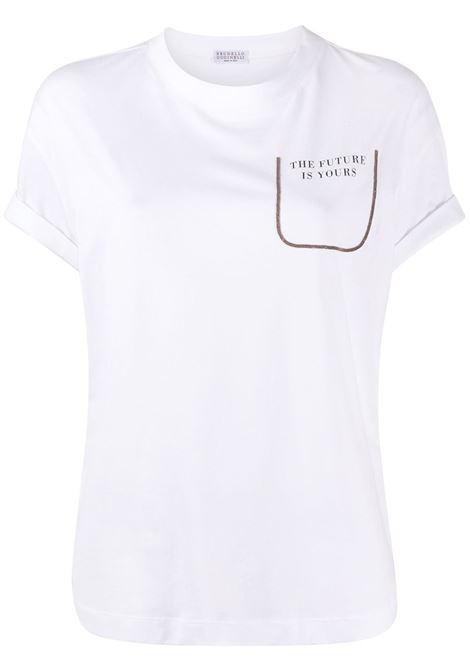 T-shirt bianca BRUNELLO CUCINELLI | M0A45BP100C159