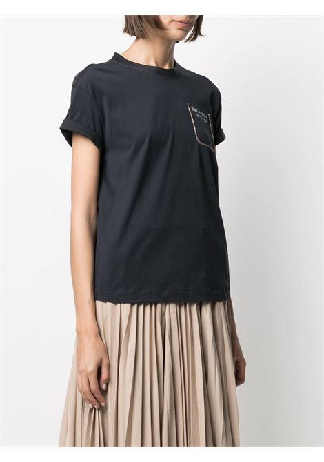 T-shirt nera BRUNELLO CUCINELLI | MAGLIE | M0A45BP100C7186
