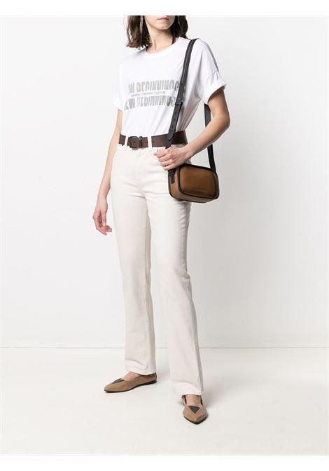 T-shirt bianca BRUNELLO CUCINELLI | T-SHIRT | M0A45BS200C159