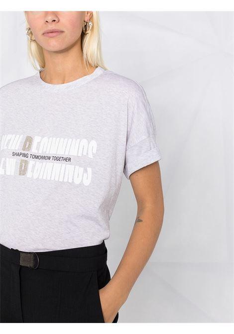 T-shirt grigia BRUNELLO CUCINELLI | T-SHIRT | M0A45BS200C932