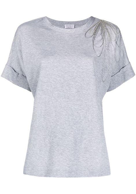 T-shirt grigia BRUNELLO CUCINELLI | M0A45BT400C9300
