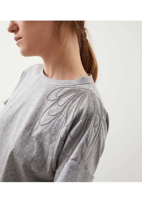Grey t-shirt BRUNELLO CUCINELLI | T-SHIRT | M0A45BT400C9300