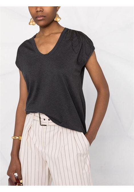 Dark grey t-shirt BRUNELLO CUCINELLI | T-SHIRT | M0A45BT410C390