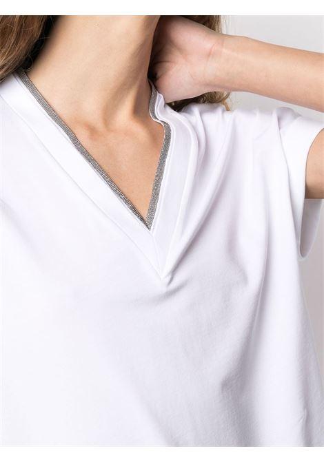T-shirt bianca BRUNELLO CUCINELLI | MAGLIE | M0T18BD222C159