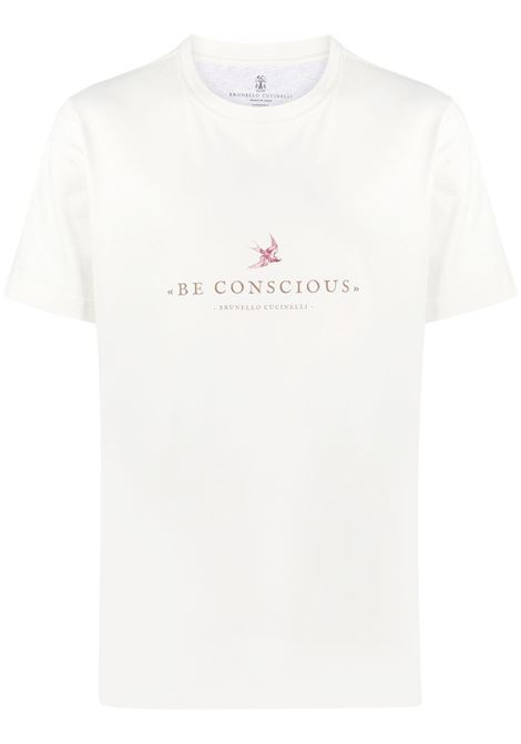 T-shirt bianca BRUNELLO CUCINELLI | T-SHIRT | M0T617127CT495