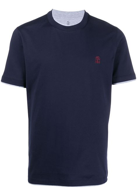Blue t-shirt BRUNELLO CUCINELLI |  | M0T617427CK781