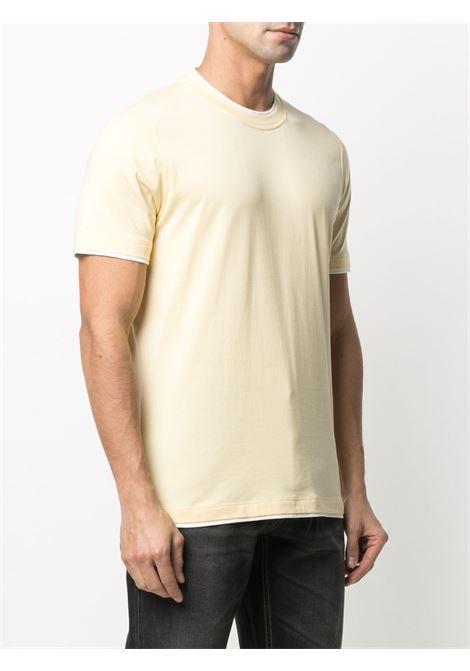 T-shirt giallo/bianco BRUNELLO CUCINELLI | T-SHIRT | M0T617427CW609