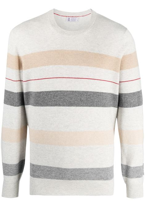 Grey/red/beige jumper BRUNELLO CUCINELLI |  | M2218500CL908