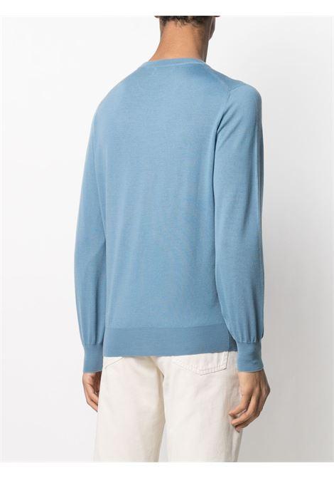 Pullover blu BRUNELLO CUCINELLI | PULLOVER | M2400100CB123
