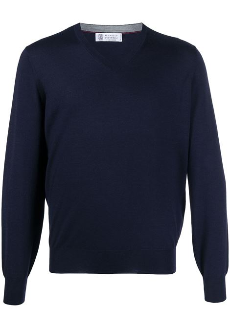 Blue Sweater BRUNELLO CUCINELLI |  | M2400162CS095