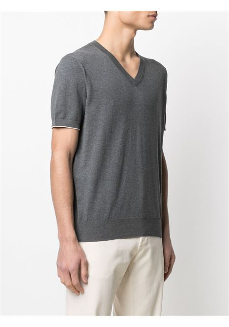 T-shirt grigia BRUNELLO CUCINELLI | T-SHIRT | M2900282CL013